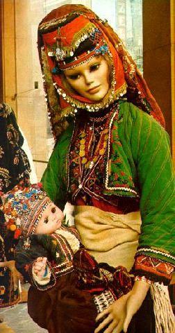 Festive village costume from the Bursa province. Mid-20th century.