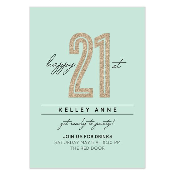 9 best images about 21st birthday – 21st Party Invitation Templates