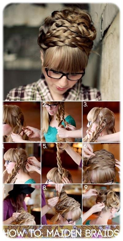 My BeautyScope: Inspirations coiffures : tresses en headbands...