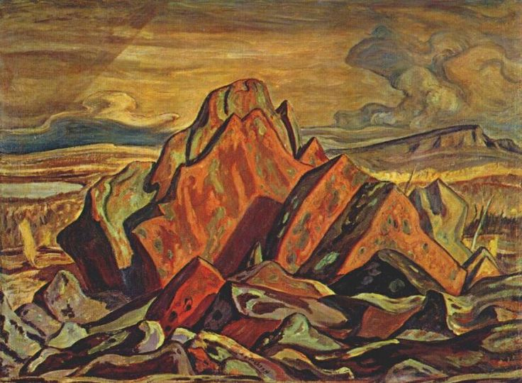 A.Y. Jackson Paintings | Hills at Great Bear Lake - A.Y. Jackson - WikiPaintings.org