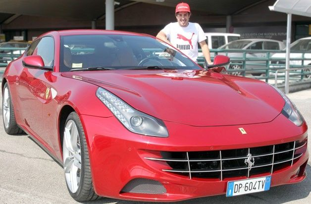 Fernando Alonso gets a Ferrari FF for winning the Malaysian Grand Prix.