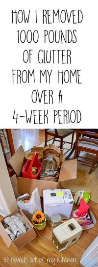The Unclutter Your Nest Boot Camp is in our kitchens, office/craft room this week. Tips and suggestions for how I removed 1,330 lbs of clutter from my home & a list of great places to take your discards.