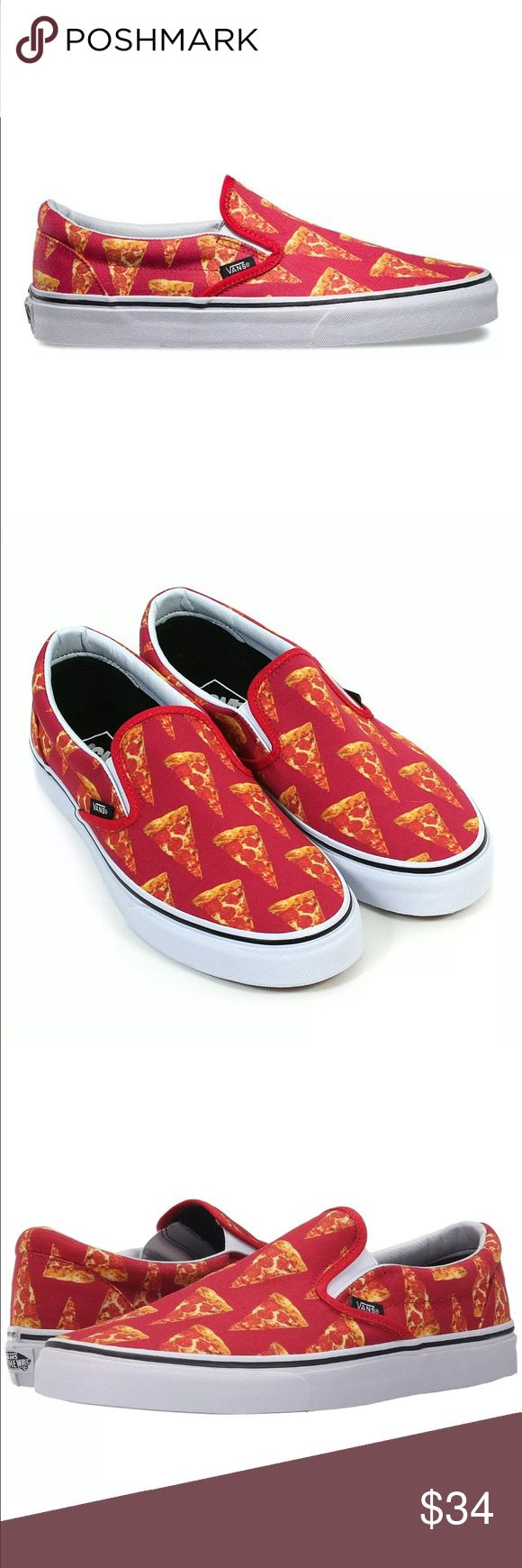 Vans slip on's late night pizza! Men's size 10 new Brand new size 10 men's vans slip on x late night pizza edition Vans Shoes Loafers & Slip-Ons