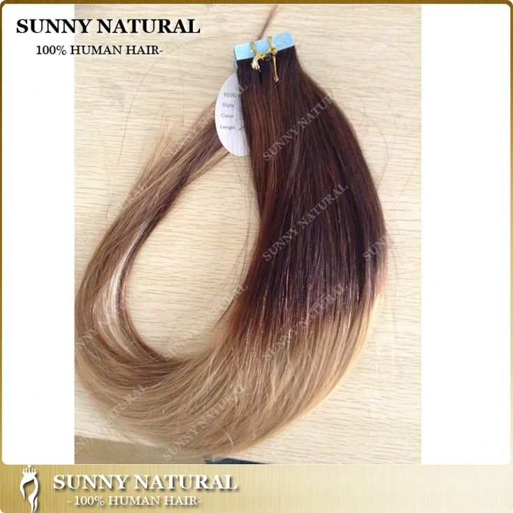 Find More Human Hair Extensions Information about Ombre blonde tape in human hair extensions 8a virgin human hair tape hair extension 100g tape in hair extensions remy 40 pieces,High Quality tape hair extension remover,China hair dye color pictures Suppliers, Cheap tape material from  Sunny Natural Human Hair Products Factory on Aliexpress.com