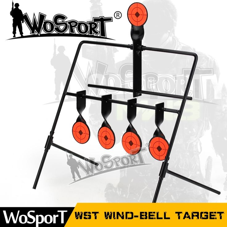 49.80$  Buy here  - WOSPORT 5-Plate Reset Shooting Target Tactical Metal Steel Slingshot BB gun Airsoft Paintball Archery Hunting Outdoor&Indoor