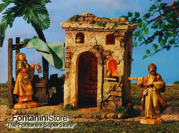 5 Inch Scale Bethlehem Inn by Fontanini - Figures not included