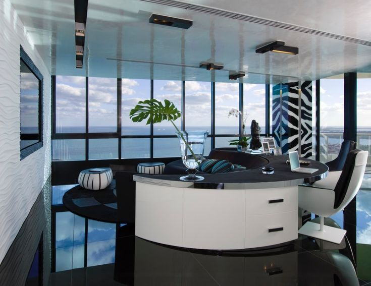 Home Office Living Room   Modern   Home Office   Miami   Nieto Design Group