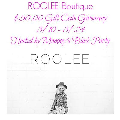 Mommy's Block Party: Amp Up Your Spring Wardrobe at Roolee Boutique + $50.00 GC #Giveaway