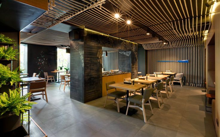 Restaurant stunning eating area design with modern rustic for Restaurant moderne