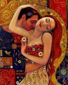 Gustav Klimt View more Gustav Klimt's paintings at: http://www.paintingsframe.com/Gustav+Klimt-painting-c34.html