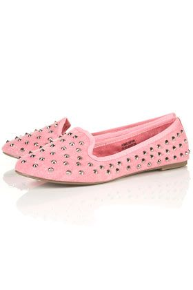 Topshop Canvas Studded Slippers