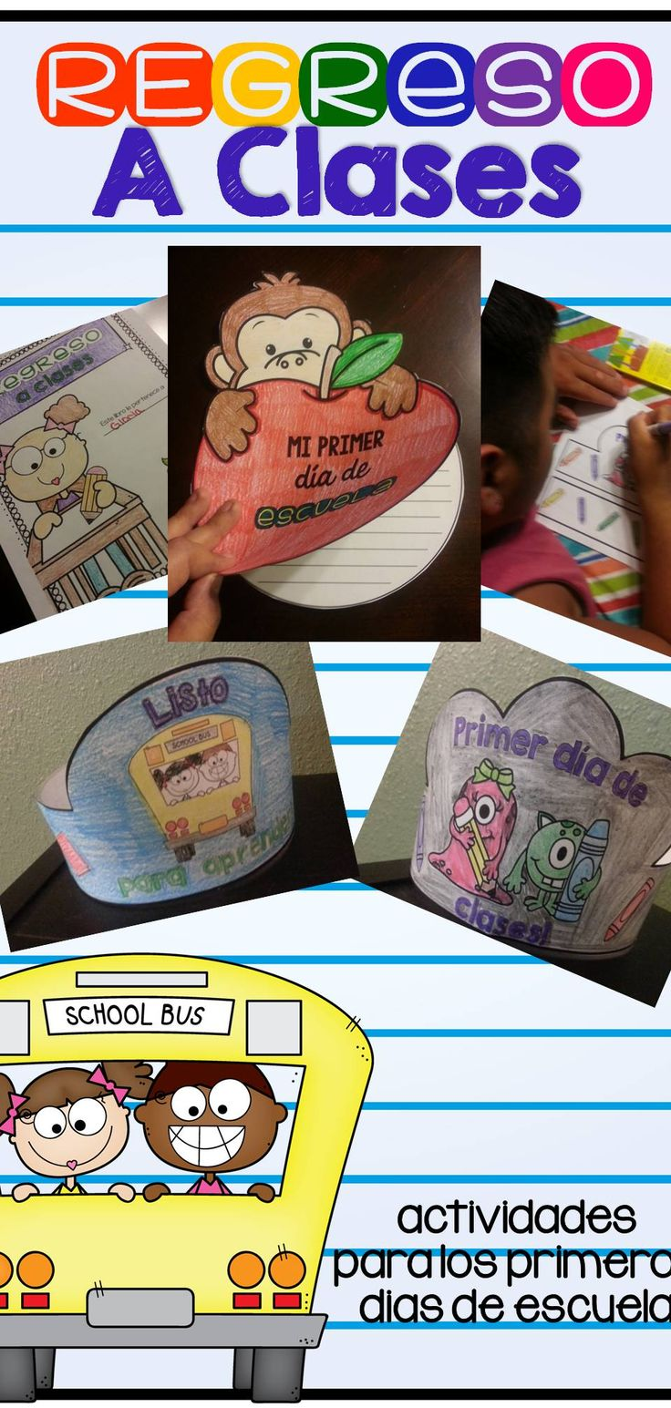 Back to school activities to keep your kids busy while you work on meeting the demands of starting off a new school year. All in Spanish!