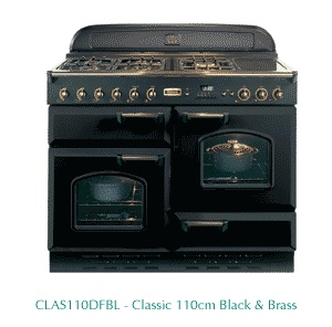 Falcon stove - two ovens, separate grill, warming chamber, gas hobs.