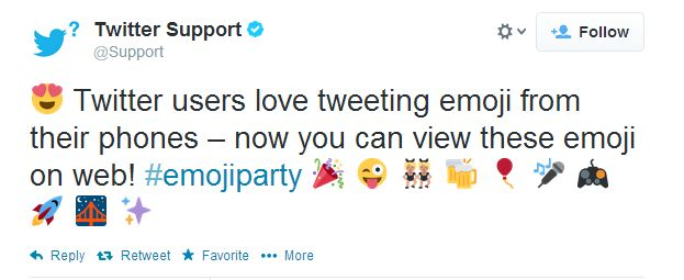 Boxes be gone, Twitter.com now supports emoji characters // Via @Tommy William // #twitter #emoji
