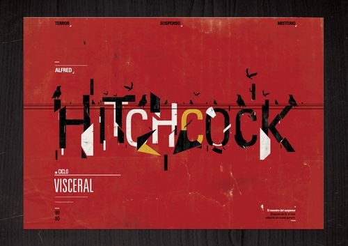 """""""#Alfred #Hitchcock"""" #Typography inspiration/treatment"""