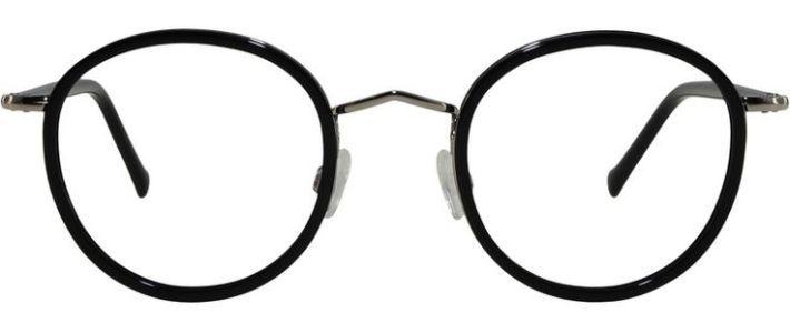 Tendance lunettes : Monture Belleville Noir Et Argent   Lunettes homme et femme en métal et acétate