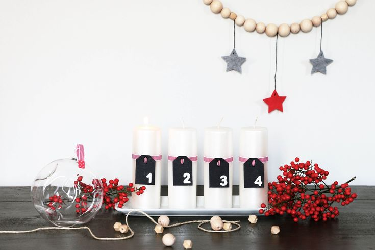 Christmas DIY | Advent candles