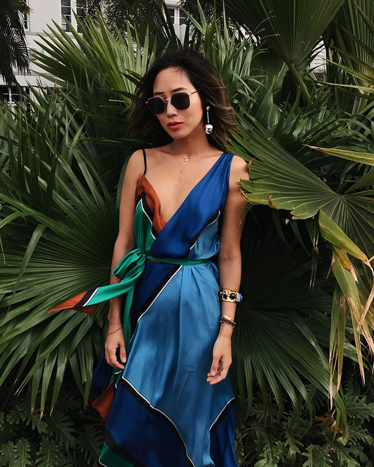 Color Blocking in Miami | Song of Style