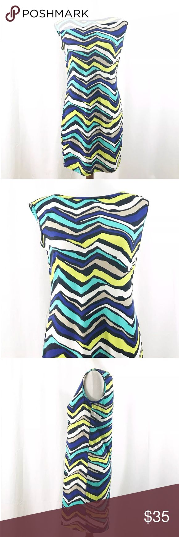 "Trina Turk Dress Small Blue Green Abstract Printed Trina Turk Dress Sz Small Blue Green Abstract Printed Stretch Sleeveless Sheath  Size: Small Color: Blue, Green, Black, White (Laying flat) Shoulder to shoulder: 17"" (Laying flat) underarm to underarm: 19"" (Laying flat) Shoulder to hem: 33"" Pre-owned, Used, No rips, stains or holes All items are as pictured. Please see all pictures before buying. Trina Turk Dresses"