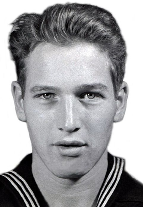 Paul Newman. Navy file photo. Even the government photographer could not disguise those eyes!