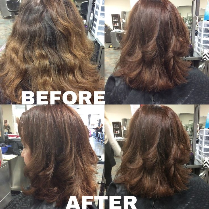 I Preformed An All Over Color And A 180 Degree Haircut Followed By A Blow  Dry