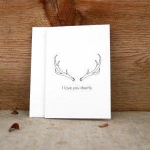 Deer Pun Greeting Card from Lydia Abigail Artwork www.lydiaabigailartwork.com