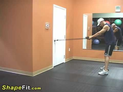Resistance Bands Exercises For Back - Standing Rows