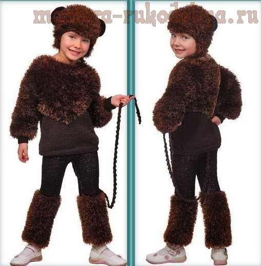 Детский костюм обезьяна для фотошоп