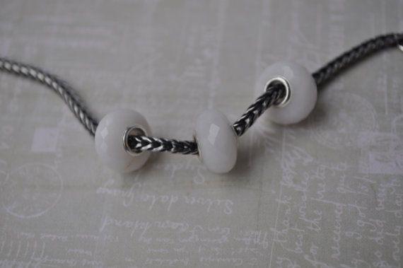 Natural Milky Quartz gemstone bead for Pandora or от WiseOwlBead