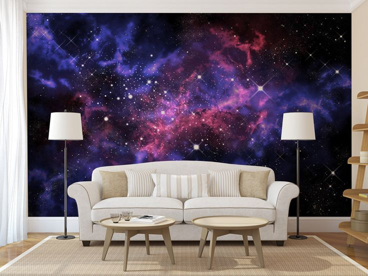 Blue & Purple Galaxy WALL MURAL, self adhesive peel and stick large photo mural, wallpaper, ceiling sticker by ZestPhotography on Etsy https://www.etsy.com/listing/471417167/blue-purple-galaxy-wall-mural-self