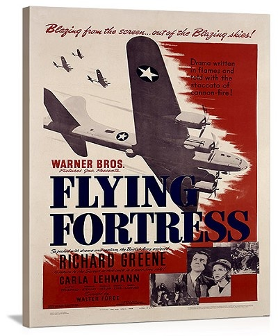 WWII B17 Flying Fortress Movie Vintage Printed On Canvas