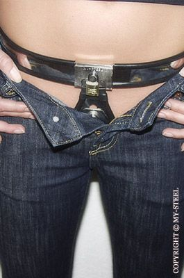 """☺ ♀CB MY-STEEL BELT - the first verse and chorus to the song """"Always something there to remind me"""" makes me thing of someone locked in a chastity belt. I think it is pretty cool.  Credit for this photo goes to My-Steel.com, I dream of owning one of their belts one day"""