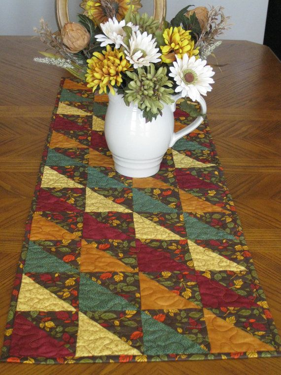Fall Triangles Table Runner