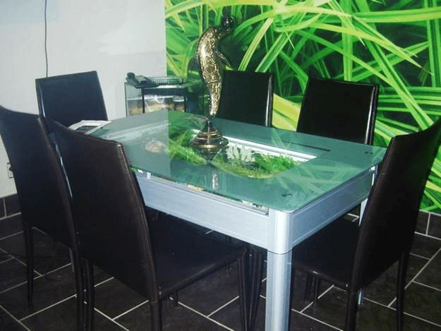 Fish tank aquarium dining table #diningtabledesign