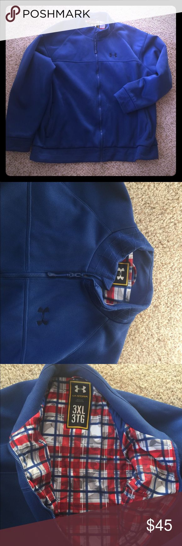 Men's Under Armour Storm 3xl Big & Tall Coat Jacke Men's Under Armour Storm Jacket in excellent condition from a smoke & per free home! I have lost about 80 pounds and the jacket doesn't fit me anymore! My loss is your gain!   Men's 3 XL , 3X, 3XL XXXL Under Armour Jackets & Coats Ski & Snowboard