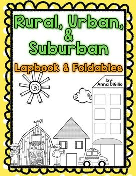 This Rural, Urban, and Suburban Communities Lapbook is ENGAGING, FUN, and a packs a punch! Get ready for some fun with this interactive Lapbook with Foldables to use with your lessons on Rural, Urban, and Suburban Communities! This unit will surely keep the attention of your students' heads and hands!