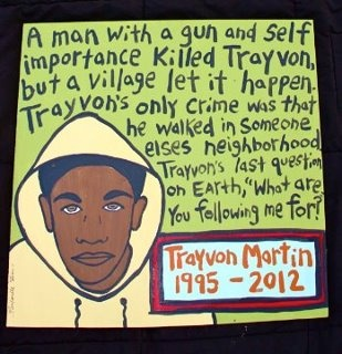 Trayvon Martin. Read the articles. Find the facts. It could have been your son/brother/neighbor.