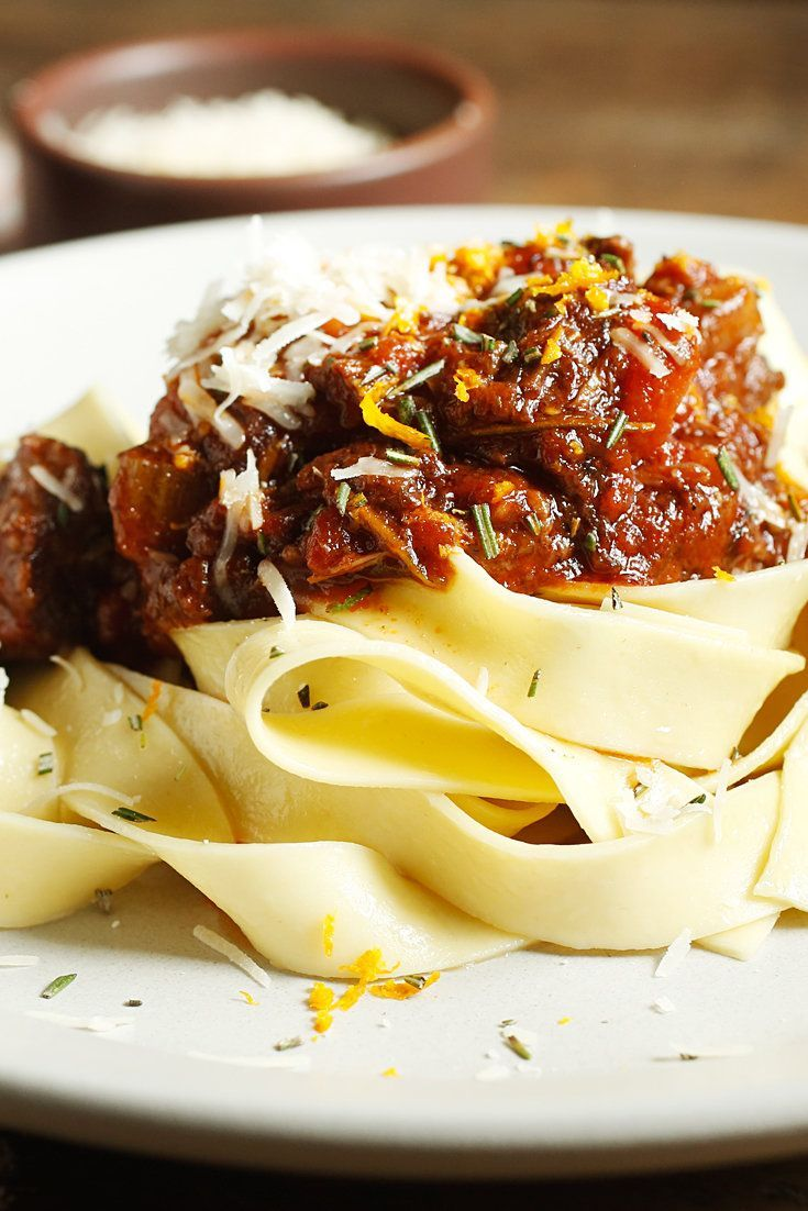 This is a variation on the dish Jamie Oliver calls ''spag bol,'' a recipe most people, even Italians, call spaghetti bolognese. (Photo: Craig Lee for The New York Times)