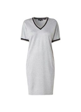 Claudia Sträter Jersey jurk met gestreepte boorden