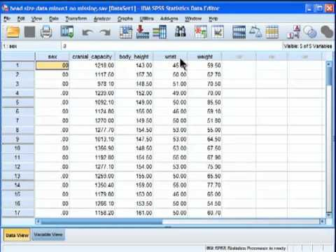 Analysis of Covariance (ANCOVA) - SPSS (part 1) - YouTube