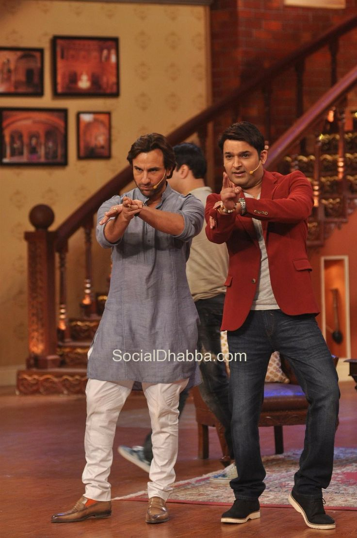 Saif Ali Khan promote Film 'Bullett Raja' on the sets of Comedy Nights with Kapil - Kapil Sharma & Saif Ali Khan #bollywood #photos #top #latest #movies