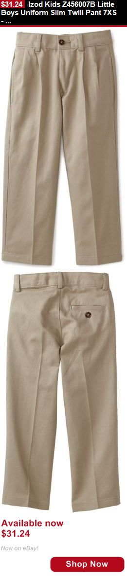 Boys uniforms: Izod Kids Z456007b Little Boys Uniform Slim Twill Pant 7Xs- Choose Sz/Color. BUY IT NOW ONLY: $31.24
