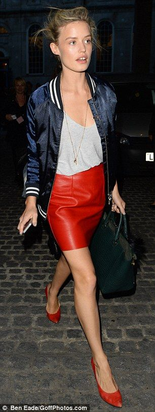 London Fashion Week, Georgia May Jagger. Image via Mail Online