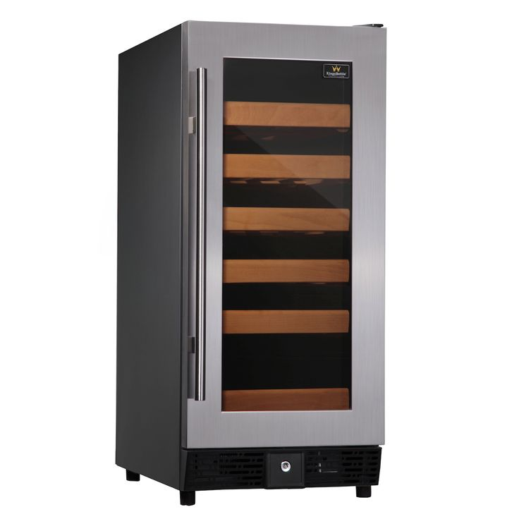 Kingsbottle 25 Bottle Single Zone Wine Cooler (Stainless Steel)  http://qualitywinecoolers.com/products/kingsbottle-25-bottle-compressor-single-zone-wine-cooler