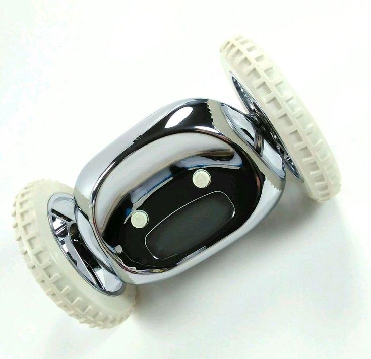 Nanda Home CLOCKY Alarm Clock on Wheels Runaway Snooze Alarm Chrome NEW robotic  #NandaHomeClockyAlarmClock