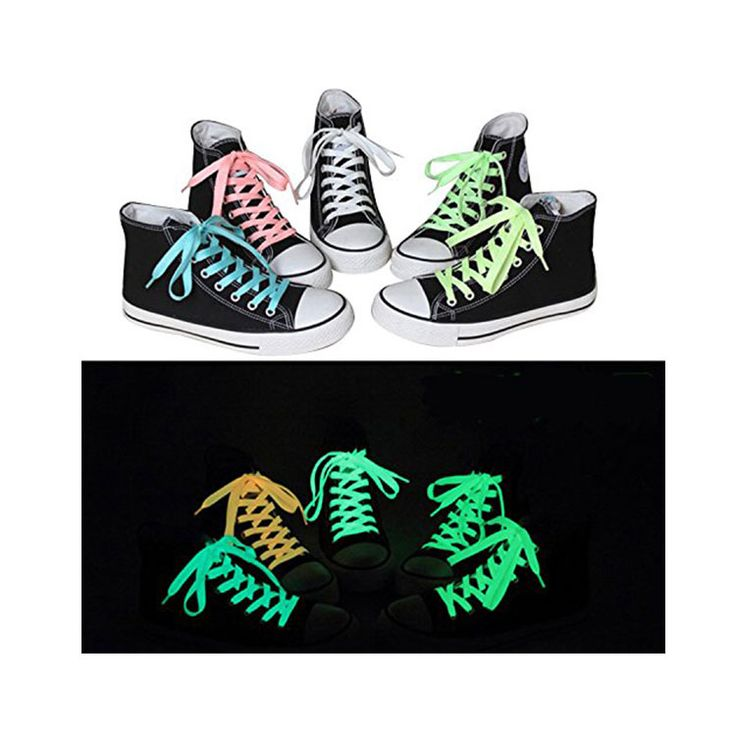 Glow in the Dark Shoelaces, ideally for sneakers, sport shoes and more!