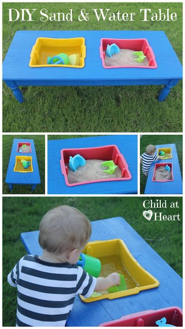 Child at Heart: DIY Upcycle Sand and Water Table Tutorial