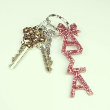 Alpha Sigma Alpha pink keychain sorority shop