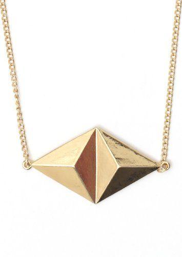 Amazon.com: Pyramid Stud Necklace Geometric Diamond Shaped Triangle Pendant NG13 Modern Statement Fashion Jewelry: Jewelry
