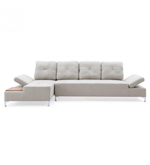 CORNER SOFA 3 SEATER AND CHAISE LONGUE IN GREY COLOR 303X140X83